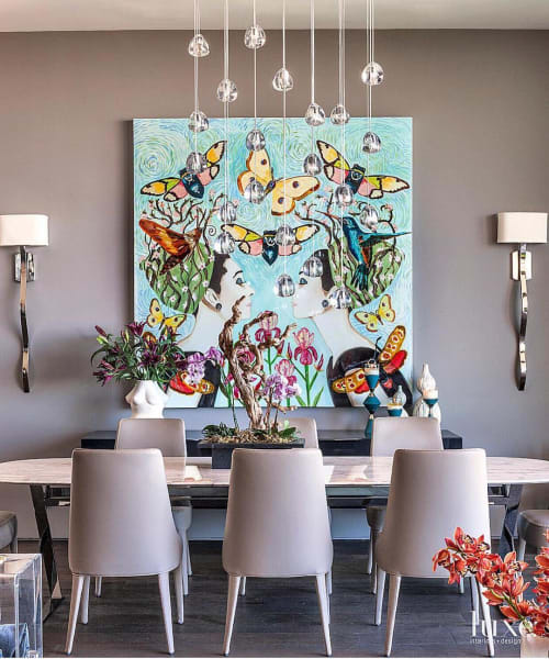 Paintings by Ashley Longshore seen at Private Residence, Beverly Hills - Audrey Pop Art