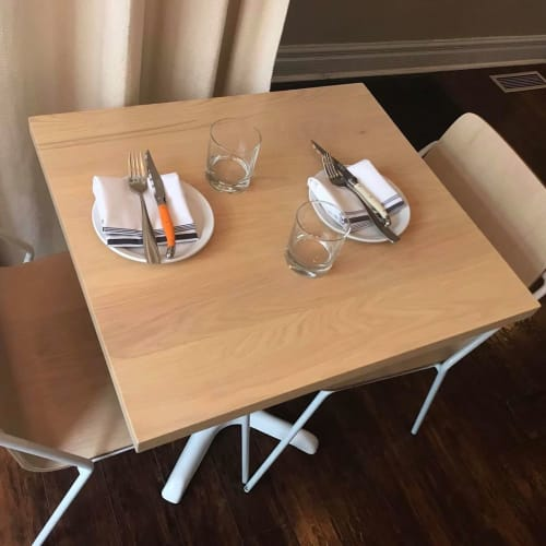 Tables by Caveman Build & Supply Co. seen at ARDO Restaurant, Toronto - Custom Tables