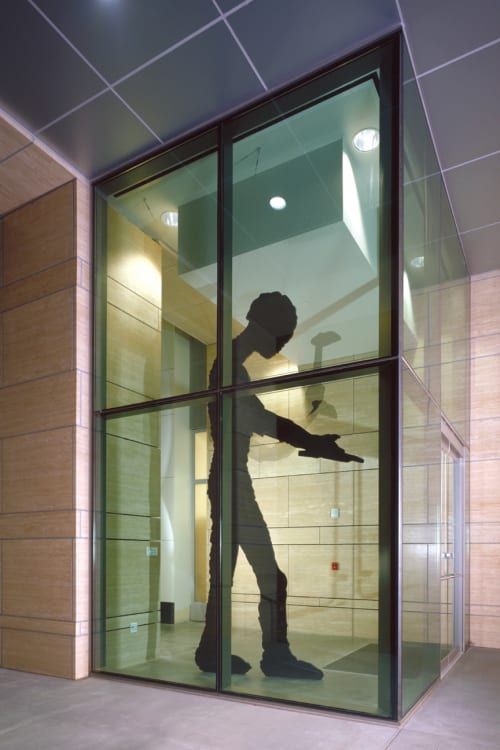Sculptures by Jonathan Borofsky seen at UCSF Medical Center at Mission Bay, San Francisco - Hammering Man at 2,908,440
