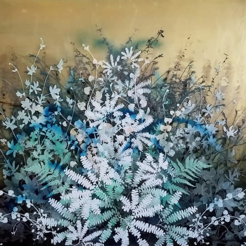 The Quiet Forest 3 | Paintings by Cara Enteles Studio | New York in New York