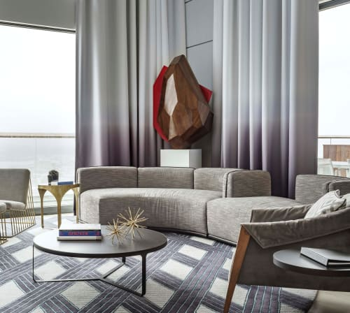 Curtains & Drapes by Valley Forge Fabrics at The William Vale, Brooklyn - Custom Gradient
