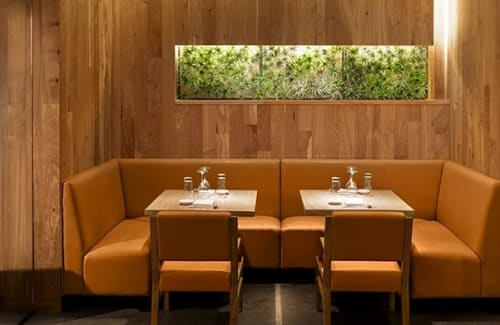 Benches & Ottomans by Arcanum Architecture seen at Roka Akor San Francisco, San Francisco - Padded Booths