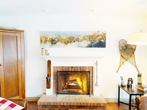 Paintings by Darlene Watson seen at Coffin Ridge Vineyard & Winery, Annan - The Ridge