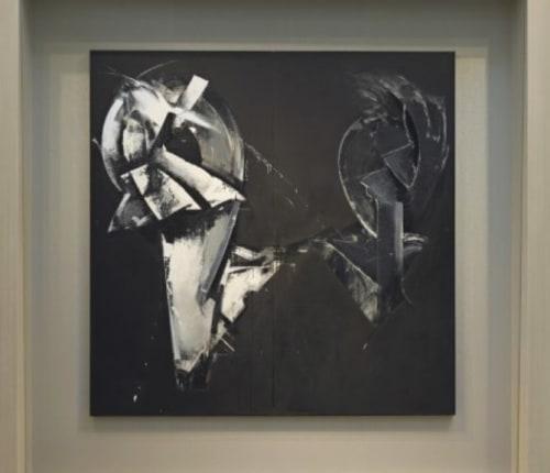 Paintings by Jay DeFeo seen at San Francisco International Airport, San Francisco - Masquerade in Black