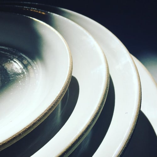 Ceramic Plates by Jono Pandolfi seen at Loring Place, New York - Custom Handmade Ceramic Tableware
