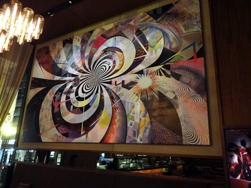 "Murals by Damon Soule seen at Grand Hyatt San Francisco, San Francisco - Painting ""Quintessence"""