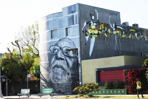 Murals by Anthony Lister seen at Society of Children's Book Writers and Illustrators, Los Angeles - Ballerina