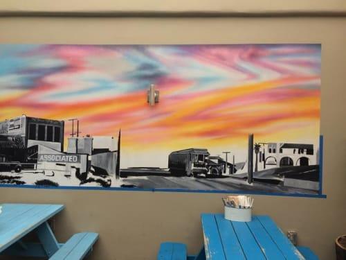 Murals by Danny Mateo seen at Playa Provisions, Los Angeles - Vintage NeighborhoodMural
