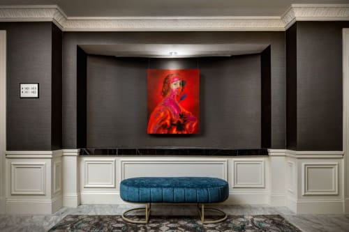 Paintings by Andrew LeMay Cox at The Blackstone, Autograph Collection, Chicago - Neon Classic
