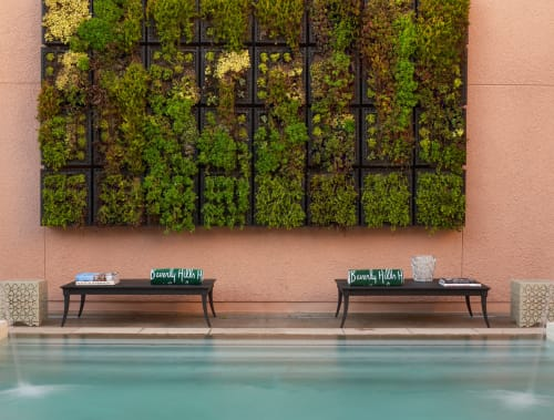 Plants & Landscape by Rottet Studio seen at The Beverly Hills Hotel, Beverly Hills - Custom Modular Vertical Garden
