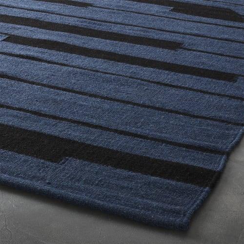 Rugs by Namavari at CB2, Berkeley - Rise Blue and Black Rug