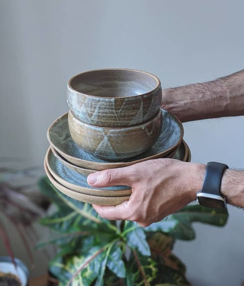 Tableware by Ceramicsbytiz seen at Private Residence, Tallinn - Ceramic Dinner Set
