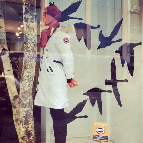 Murals by Christian Toth Art seen at Dugger's Mens Wear, Halifax - Canada Goose Window Mural