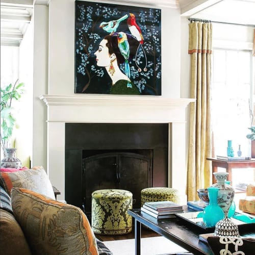 Paintings by Ashley Longshore at Private Residence, Memphis - Audrey