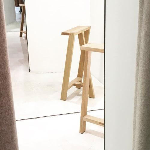 Chairs by Pierre-Emmanuel Vandeputte seen at Filippa K, Bruxelles - Pausa stool