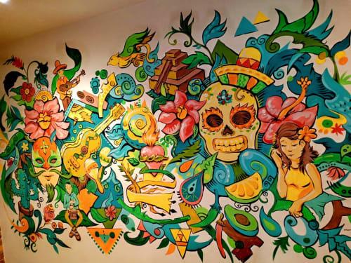 Murals by Rai Cruz seen at Rosa's Cantina, Coron - Mural
