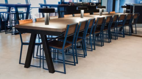 ... Furniture By Uhuru Design At Shake Shack   Fulton Transit Center, New  York   Tables