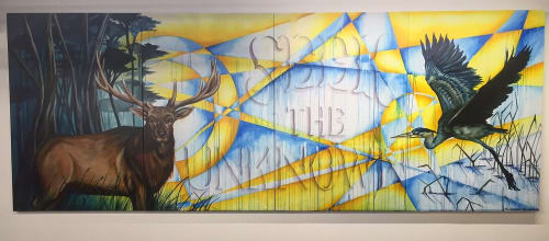 Murals by Eli Lippert seen at Google SF at One Market, San Francisco - Seek The Unknown
