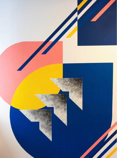 Murals by LAMKAT seen at Behalf Inc., New York - Geometric Mural