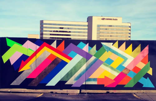 Street Murals by Daniel Carello seen at Westchester County - Geometric Mural