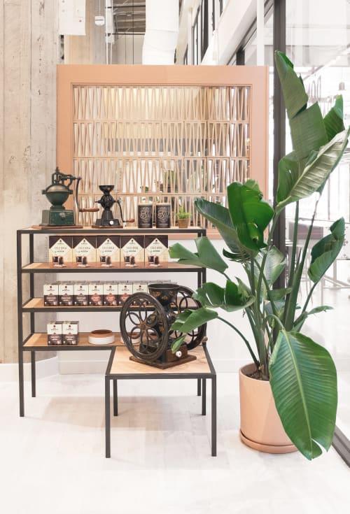 Furniture by Base Collaborative seen at Don Francisco's Coffee Casa Cubana, Los Angeles - Display Shelf