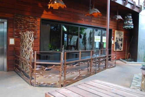 Furniture by Gerardi Design seen at Old Vine Café, Costa Mesa - Railings