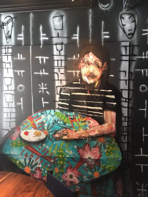 Murals by David Choe at Momofuku Ko, New York - Boy Mural