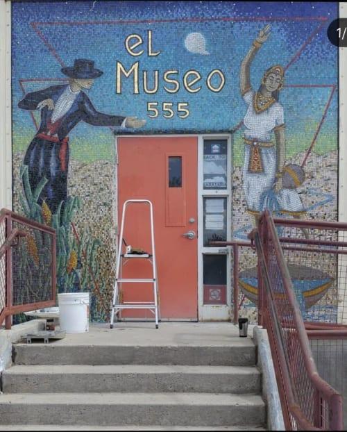 Public Mosaics by Mariel Rose Garcia seen at El Museo Cultural De Santa Fe, Santa Fe - Mosaic