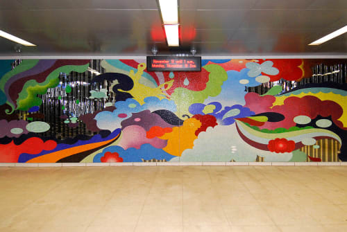 Murals by Carlos Rolón/Dzine. seen at Sedgwick (CTA), Chicago - Time is the Enemy (Revisited)