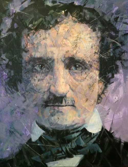 "Paintings by Alexander Ilichev seen at Quarry Place at Tuckahoe, Tuckahoe - ""Poe"""