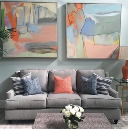 Paintings by Mary Elizabeth Peterson at Private Residence, High Point - Sunken Treasure & Skinny Dip