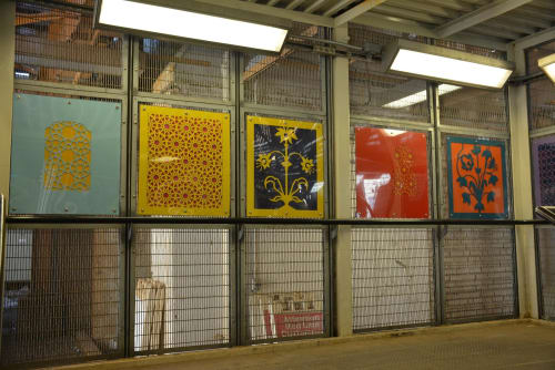Sculptures by Deedee Morrison seen at Lawrence Station, Chicago, Chicago - Parallel Frames of Reference