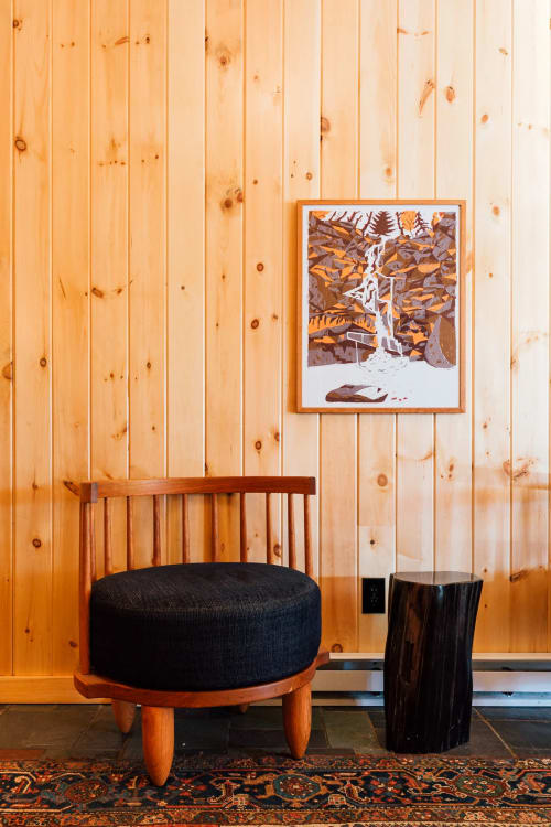 Chairs by Michael Robbins seen at Scribner's Catskill Lodge, Hunter - Barril Chair