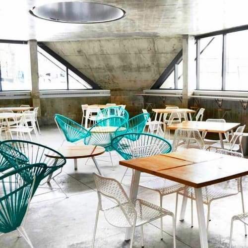 Chairs by Innit Designs at Café OSMO, Montréal - Innit Chair
