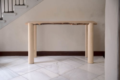 Tables by Michael O'Connell Furniture seen at Atelier de Troupe, Los Angeles - El Monte Console Table