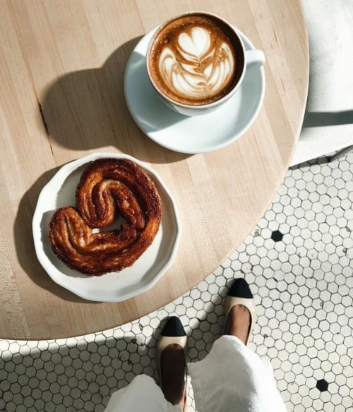 Ceramic Plates by CONVIVIAL seen at Messenger Coffee Co. + Ibis Bakery, Kansas City - Small Riveted Plate