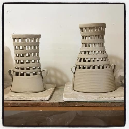 Vases & Vessels by Mayware Ceramics seen at Old American Can Factory, Brooklyn - Ceramic Vase