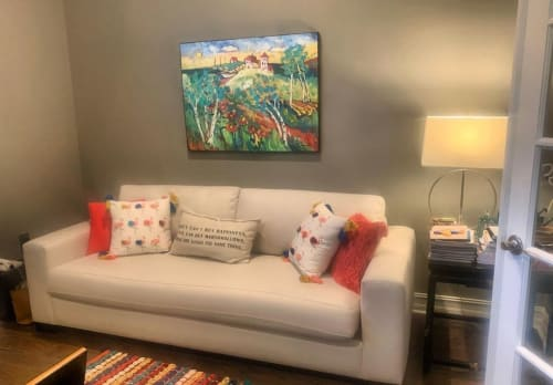 Paintings by Elaine Lanoue seen at Private Residence, South Bend - Sailboat Landscape Painting