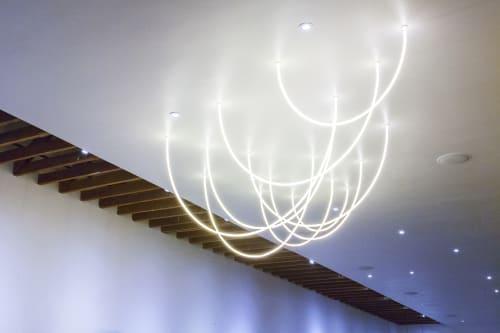 Lighting by Laura Stevenson seen at Ritual Roasters, San Francisco - Neon Ceiling Lights