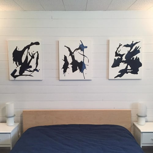 Paintings by Katie Brennan seen at Private Residence, Kelowna - Rorschach Abstract
