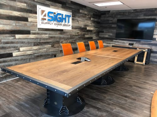 Tables by Vintage Industrial seen at 4SIGHT Supply Chain Group, Wayne - Conference Table
