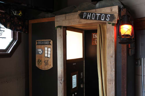 Furniture by Glass Coat Photo Booth at Rock Bar, San Francisco - Rock Bar Photo Booth