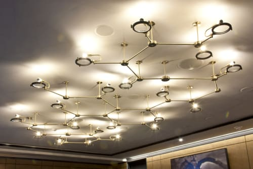 Chandeliers by Neptune Glassworks seen at The Alexandria, San Diego - Molecule Chandelier