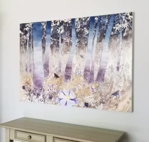 """Paintings by Cara Enteles Studio seen at Creator's Studio, New York - """"The Quiet Forest 4"""""""
