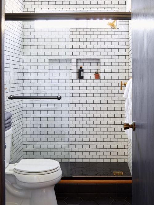 Tiles by Mulia Tile at The Joshua Tree Casita, Joshua Tree - White Subway Tile