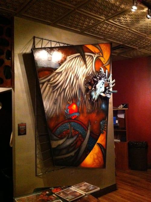 Murals by Jennifer Espenscheid seen at The Bad Apple, Chicago - Dragon of Eden
