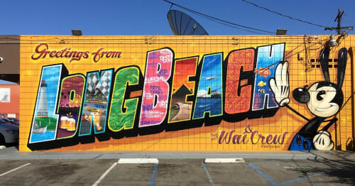 "Street Murals by Greg ""Craola"" Simkins seen at Long Beach, Long Beach - Greetings from Long Beach"