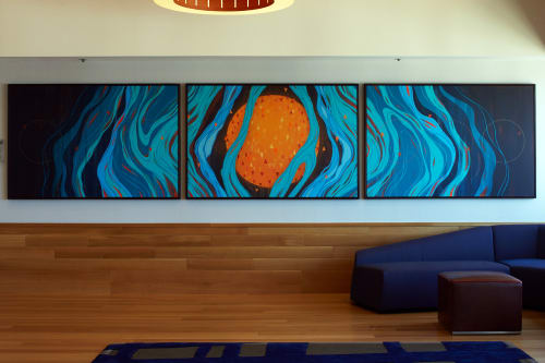 "Murals by Erik Otto seen at Grand Hyatt San Francisco, San Francisco - ""Where Dreams Are Born"""