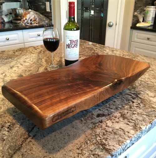 Tableware by Cask Woodworking seen at Private Residence, Sherwood Park - Charcuterie Board