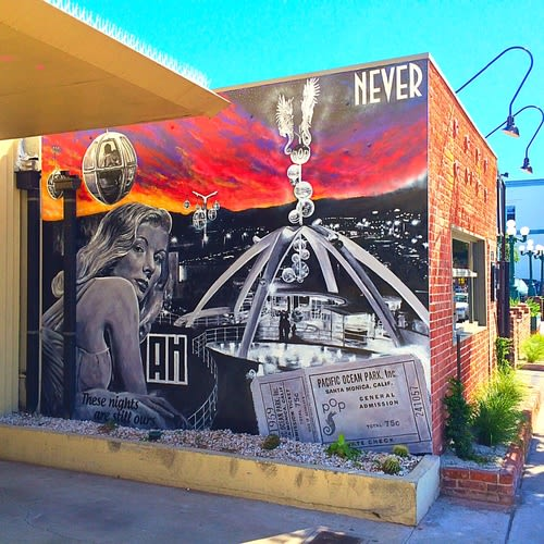 Murals by Cult-Classics (Jonas Never) seen at Ashland Hill, Santa Monica - Mural by Jonas Never (exterior)